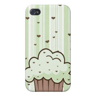 Microprocesador de chocolate de la menta Cuppy iPhone 4/4S Fundas