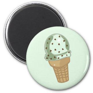 Microprocesador de chocolate de la menta imán redondo 5 cm