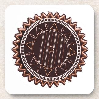 Microprocesador de chocolate oscuro del moreno: CH Posavasos