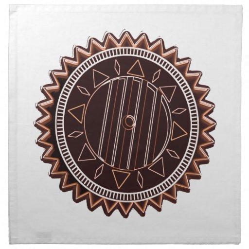 Microprocesador de chocolate oscuro del moreno: CH Servilletas