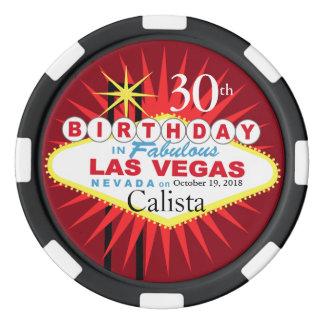 Microprocesador del casino del cumpleaños de Las Fichas De Póquer