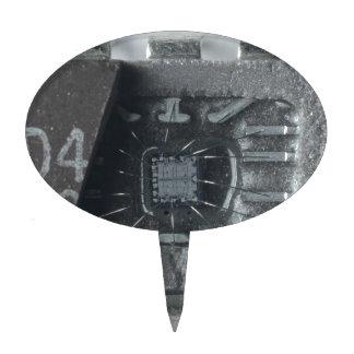 Microprocesador del circuito integrado figuras de tarta