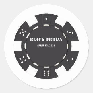 Microprocesador negro de viernes pegatina redonda