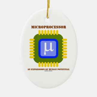 Microprocesador una expresión del potencial humano adorno