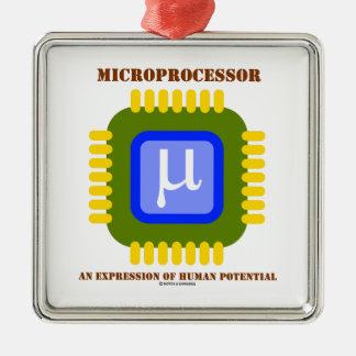 Microprocesador una expresión del potencial humano ornamente de reyes