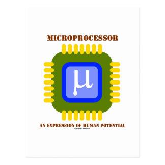 Microprocesador una expresión del potencial humano postales