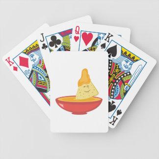Microprocesador y inmersión barajas de cartas