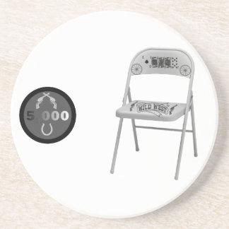 Microprocesador y una silla posavaso para bebida