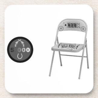 Microprocesador y una silla posavaso