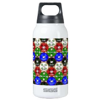 Microprocesadores apenados del casino botella isotérmica de agua