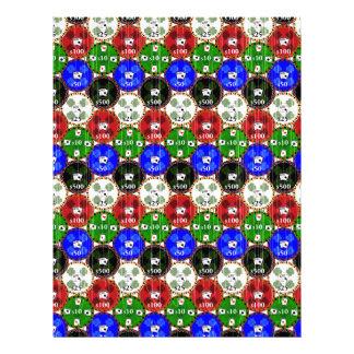 Microprocesadores apenados del casino membrete a diseño