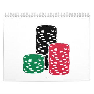Microprocesadores de la ruleta del póker que calendarios de pared