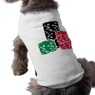 Microprocesadores de la ruleta del póker que juega ropa de perros