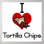 Microprocesadores de tortilla del amor-corazón I Poster