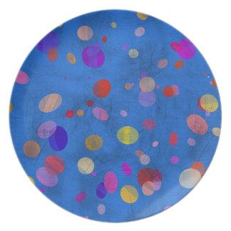 Microprocesadores del color plato de comida