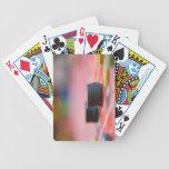 Microprocesadores en la apuesta del cuadro 3 baraja cartas de poker