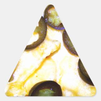 Microprocesadores, queso y Jalapenos Pegatina Triangular