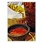 Microprocesadores y cumpleaños de la salsa tarjeta de felicitación