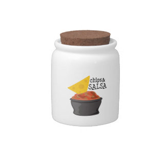 Microprocesadores y salsa tarro de cerámica para dulces