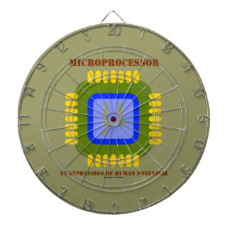 Microprocessor An Expression Of Human Potential Dartboard With Darts