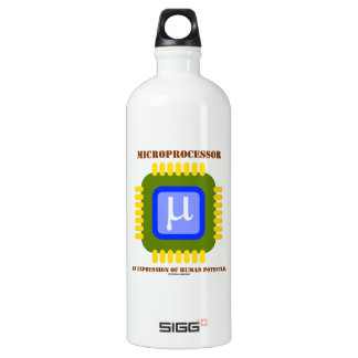 Microprocessor An Expression Of Human Potential SIGG Traveler 1.0L Water Bottle
