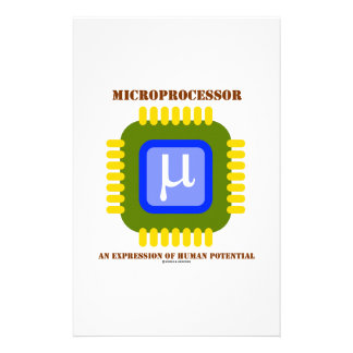 Microprocessor An Expression Of Human Potential Stationery