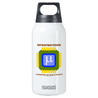 Microprocessor An Expression Of Human Potential Thermos Water Bottle