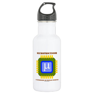 Microprocessor An Expression Of Human Potential Water Bottle