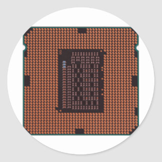 microprocessor classic round sticker