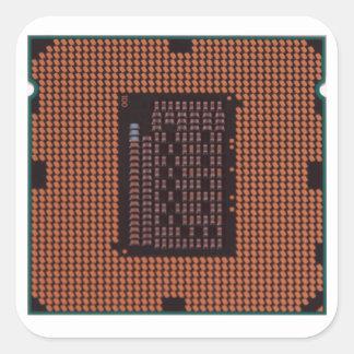 microprocessor square sticker