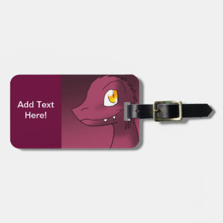 Microraptor rosado moderado oscuro etiquetas para maletas