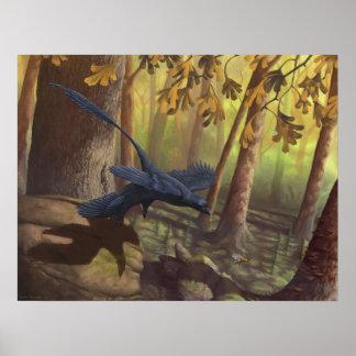 Microraptor Takeoff Print