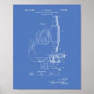 Microscope 1948 Patent Art Blueprint Poster