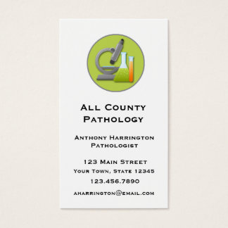 Microscope and Test Tubes Business Card