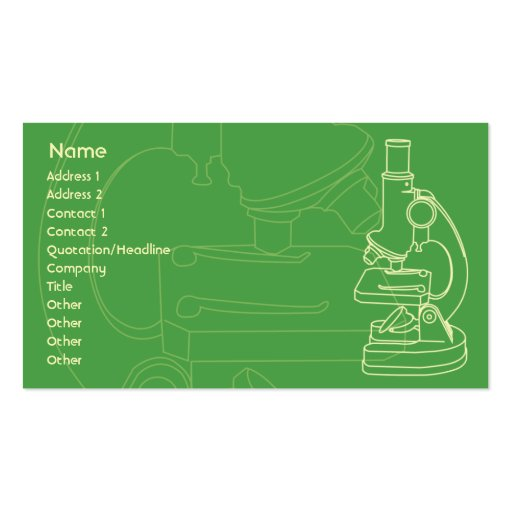 Microscope - Business Business Cards