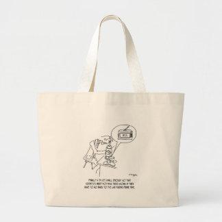 Microscope Cartoon 0745 Large Tote Bag