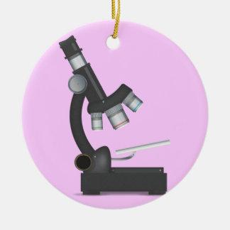 Microscope Ceramic Ornament