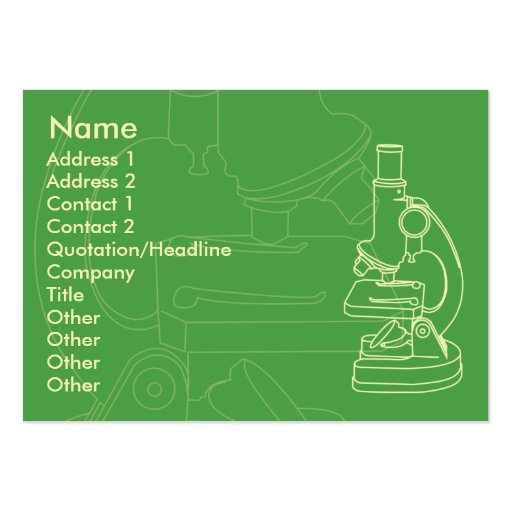 Microscope - Chubby Large Business Cards (Pack Of 100)