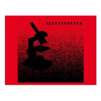 Microscope Dot Pattern Postcard