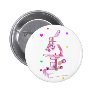 Microscope for Girls 2 Inch Round Button