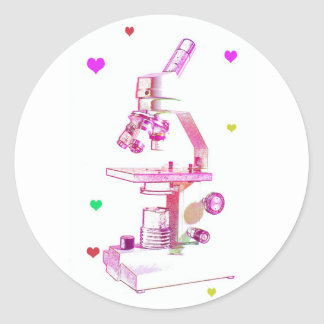 Microscope for Girls Classic Round Sticker