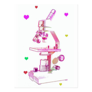 Microscope for Girls Postcard