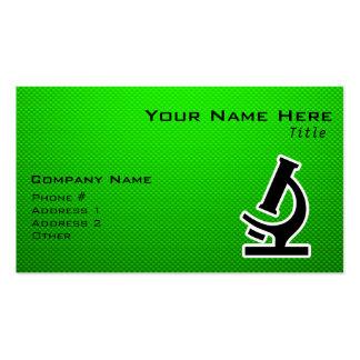 Microscope; Green Business Card