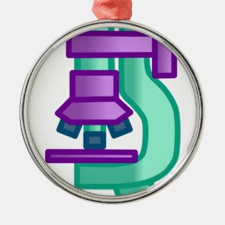 Microscope Metal Ornament