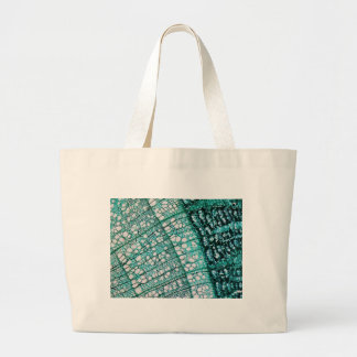 Microscope micrograph of pine tree wood cells canvas bags