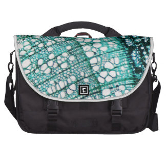 Microscope micrograph of pine tree wood cells laptop shoulder bag