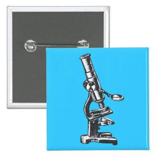 Microscope Pinback Button