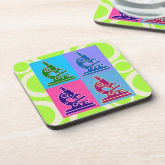 Microscope Pop Art Coasters