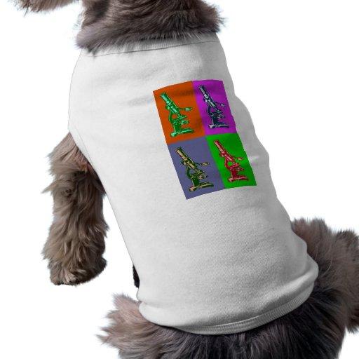 Microscope Pop Art Pet Shirt