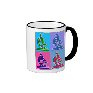 Microscope Pop Art Ringer Coffee Mug